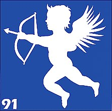 Духи, Парфюмерия, косметика Трафарет для боди-арта, 6х6 см, 91 - Biofarma