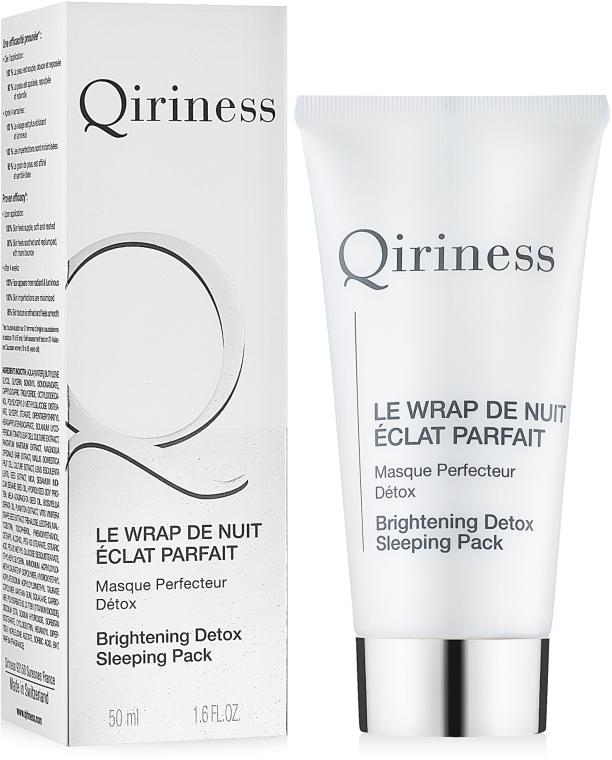 Ночная маска для лица - Qiriness Brightening Detox Sleeping Pack