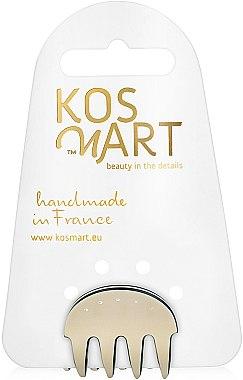 "Заколка для волос ""Beige Crystal Oval"" - Kosmart"