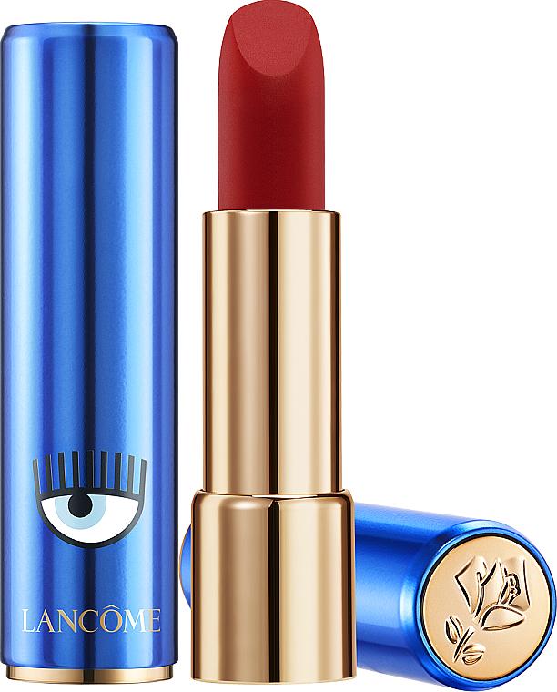 Помада для губ с ультраматовой текстурой - Lancome x Chiara Ferragni L'Absolu Rouge Drama Matte
