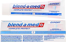 Духи, Парфюмерия, косметика Зубная паста - Blend-a-med Complete Protect Expert Sensitive & Gentle Whitening Toothpaste