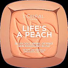 Румяна для лица - L'Oreal Paris Life's a Peach Blush Powder — фото N1