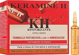 Ампули для зміцнення волосся Червоні - Keramine H Professional Fiale Rinforzante Fascia Rossa — фото N2