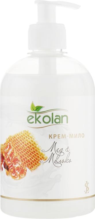 """Крем-мыло """"Мед-молоко"""" с дозатором - Ekolan"""
