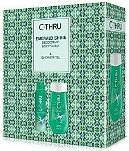 Духи, Парфюмерия, косметика C-Thru Emerald Shine - Набор (deo/150ml + sh/gel/250ml)