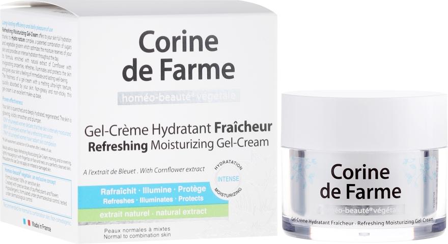 Освежающий увлажняющий крем-гель для нормальной и комбинированной кожи - Corine de Farme