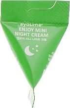 Духи, Парфюмерия, косметика Ночной крем для лица с центеллой азиатской - Ayoume Enjoy Mini Night Cream (пробник)
