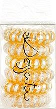 Духи, Парфюмерия, косметика Набор резинок для волос - Dessata No-Pulling Hair Ties Glitter+Metal Rose Gold