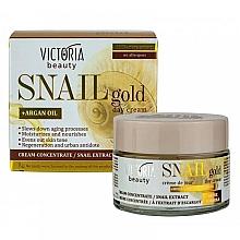 Духи, Парфюмерия, косметика Дневной крем с экстрактом улитки - Victoria Beauty Snail Gold Argan Oil Day Cream