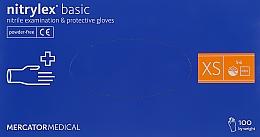 Духи, Парфюмерия, косметика Перчатки нитриловые нестерильные неприпудренные XS, голубые - Mercator Medical Nitrylex Basic