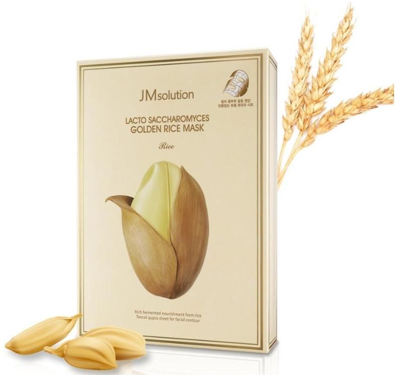 Тканевая маска с ферментированными компонентами - JMsolution Lacto Saccharomyces Golden Rice Mask
