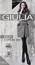 "Духи, Парфюмерия, косметика Колготки для женщин ""Lucky Cotton"" 200 Den, nero - Giulia"