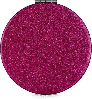 Зеркало косметическое круглое, малиновое - Lily Cosmetics — фото N1