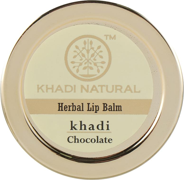 """Натуральный аюрведический бальзам для губ """"Шоколад"""" - Khadi Natural Ayurvedic Herbal Lip Balm Chocolate"""
