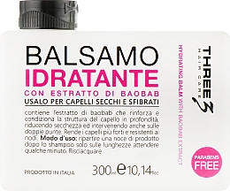 Духи, Парфюмерия, косметика Увлажняющий бальзам с экстрактом баобаба - Faipa Roma Three Hair Care Idratante Balm