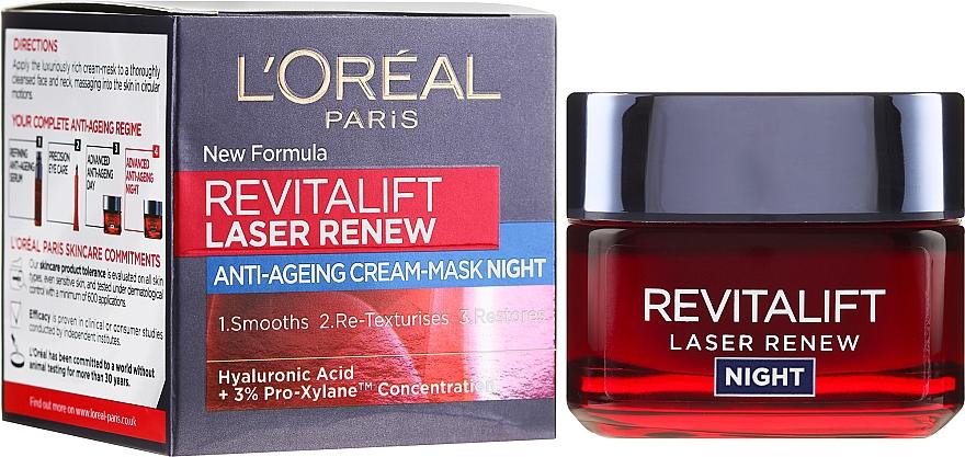 Ночной обновляющий крем-маска - L'Oreal Paris Revitalift Laser Renew Night Cream-Mask