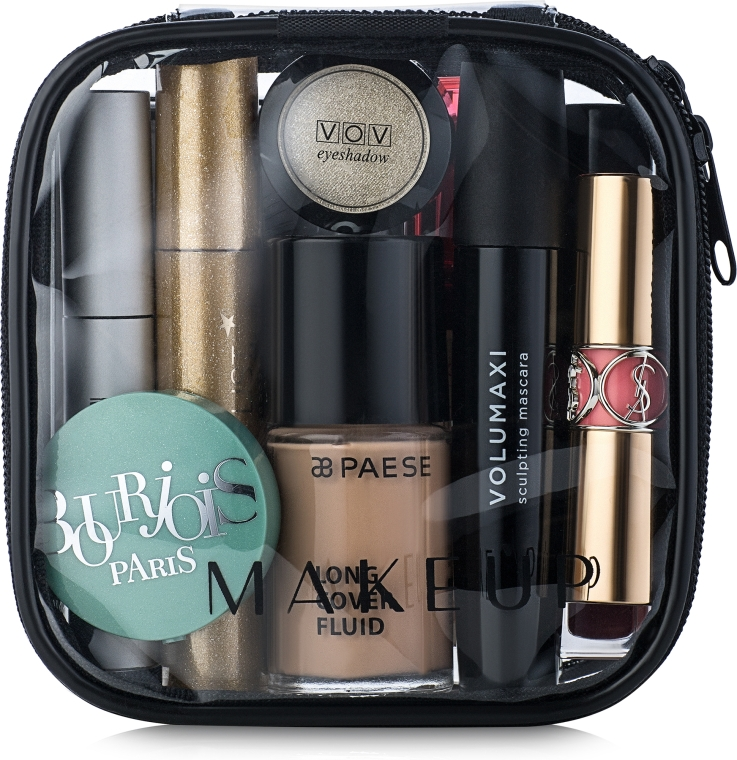 "Косметичка прозрачная ""Visible Bag"" 12х12х5см (без наполнения) - Makeup"