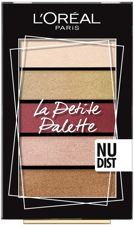 Палетка теней для век - L'Oreal Paris La Petit Palette Nudist Eyeshadow