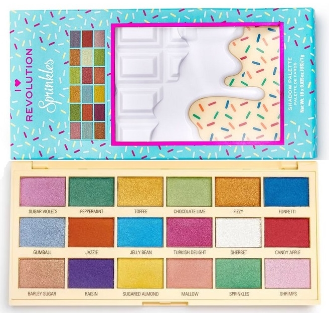 Палетка теней для век - I Heart Revolution Eyeshadow Chocolate Palette Sprinkles