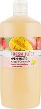 """Духи, Парфюмерия, косметика Крем-мыло с маслом камелии """"Манго и карамбола"""" - Fresh Juice Mango & Carambol"""