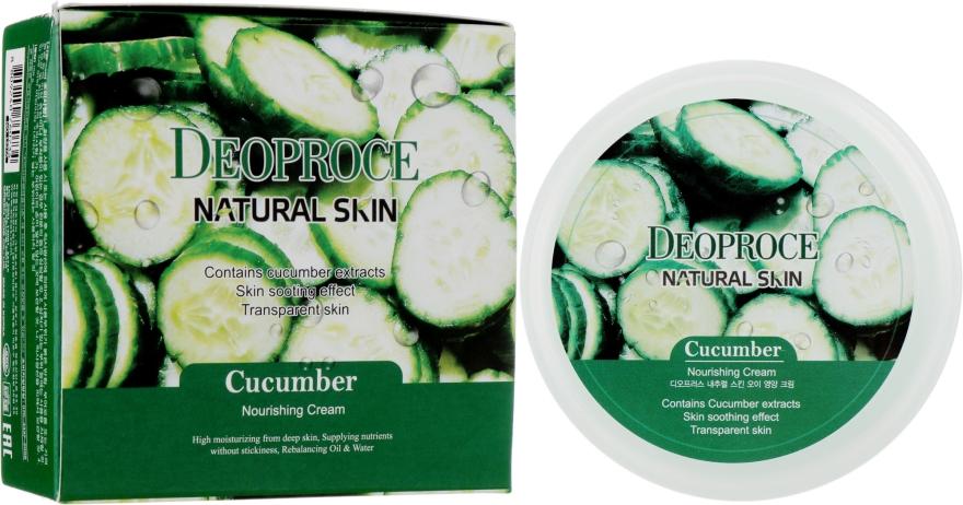 Антивозрастной регенерирующий крем для лица с гиалуроновой кислотой, экстрактом огурца и витаминами - Deoproce Natural Skin Cucumber