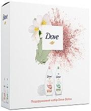 Духи, Парфюмерия, косметика Подарочный набор - Dove Detox (2xsh/gel/250ml+sponge)
