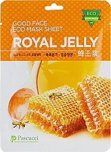 Маска для лица с экстрактом маточного молочка - Pascucci Good Face Eco Mask Sheet Royal Jelly — фото N1