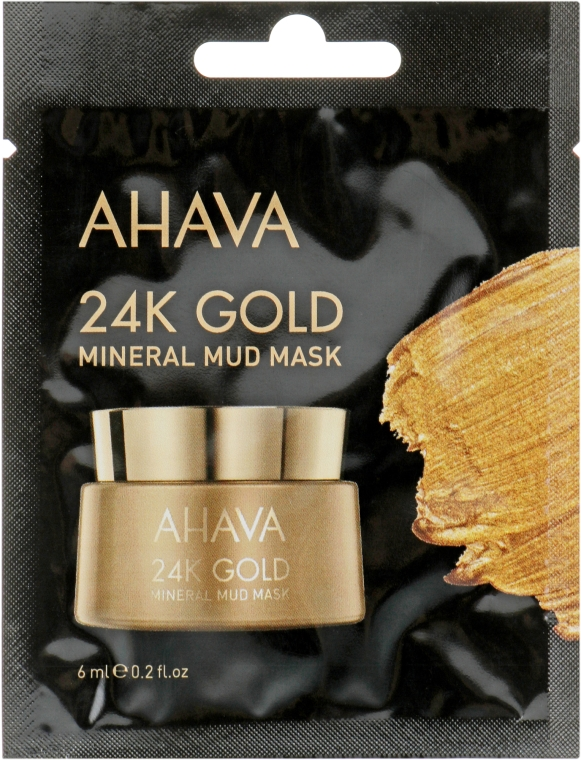 Маска для лица на основе золота - Ahava 24К Gold Mineral Mud Mask (пробник)