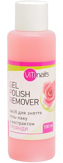 Жидкость для снятия гель-лака с экстрактом розы - ViTinails Gel Polish Remover