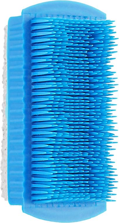 Щеточка для ногтей с натуральной пемзой, синяя - Top Choice