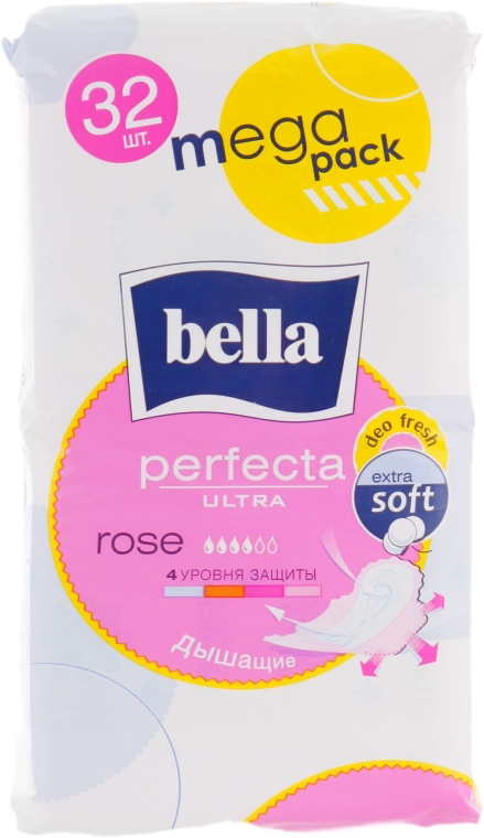 Прокладки Perfecta Ultra Rose Deo Fresh, 32шт - Bella