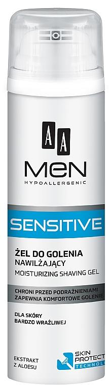 Гель для бритья - AA Men Sensitive Moisturizing Shaving Gel