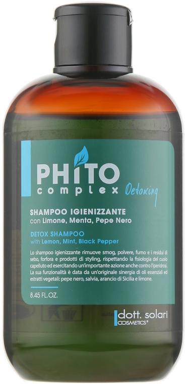 Детокс шампунь - Dott. Solari Phito Complex Sanitizer Detoxing Shampoo