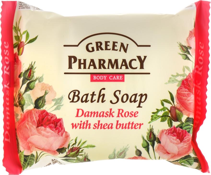 """Мыло """"Дамасская роза с маслом ши"""" - Зеленая аптека"""