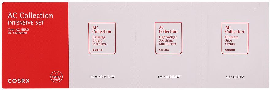 Набор - Cosrx AC Collection Intensive Set (ton/1,5 ml + cr/1ml + cr/1g)