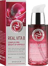 Духи, Парфюмерия, косметика Сыворотка для лица с комплексом витаминов - Enough Real Vita 8 Complex Pro Bright Up Ampoule