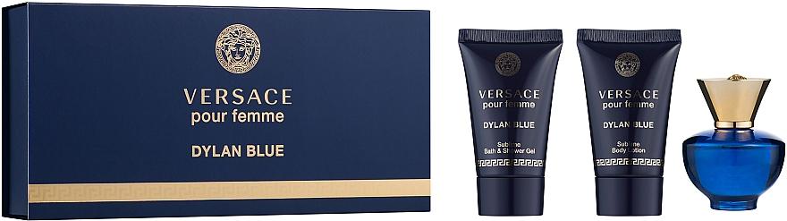 Versace Dylan Blue Pour Femme - Набор (edp/5ml + b/balm/25ml + sh/gel/25ml)