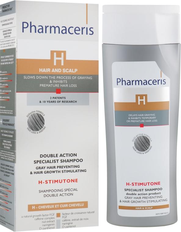 Шампунь замедляющий процесс появления седины волос - Pharmaceris H-Stimupeel Specialist Shampoo Gray Hair Preventing & Hair Growth Stimulating