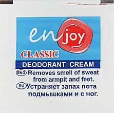 Духи, Парфюмерия, косметика Эко-крем-дезодорант - Enjoy & JoyClassic Deodorant Cream (пробник)
