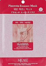 Духи, Парфюмерия, косметика Тканевая маска для лица с плацентой - MJ Care Placenta Essence Mask
