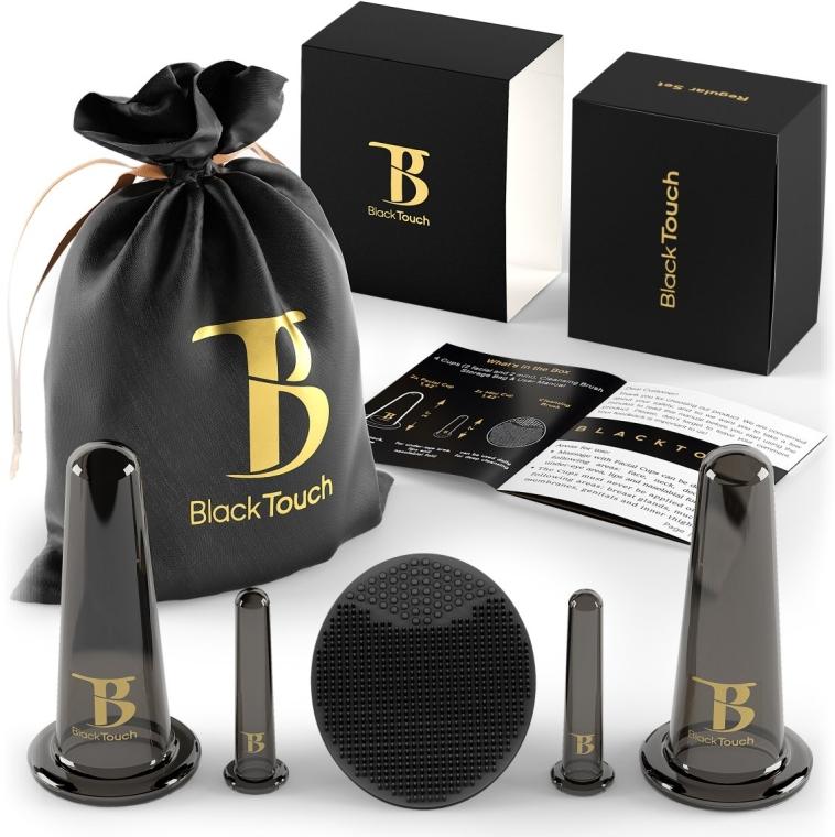 Вакуумные банки для массажа лица с силиконовым массажером - BlackTouch