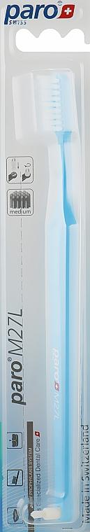 "Зубная щетка ""M27L"", голубая - Paro Swiss Isola F"