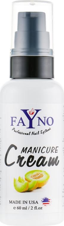 """Увлажняющий крем для рук и кутикулы """"Дыня"""" - Fayno Manicure Cream"""
