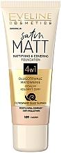 Духи, Парфюмерия, косметика Тональный крем с матовым эффектом - Eveline Cosmetics Satin Matt Mattifying Foundation