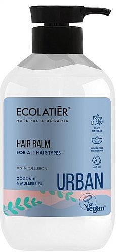 """Бальзам-ополаскиватель для всех типов волос """"Кокос и шелковица"""" - Ecolatier Urban Hair Balm"""