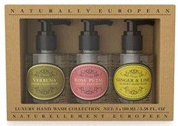 Духи, Парфюмерия, косметика Набор жидкого мыла - Naturally European Hand Wash Collection (мини) (soap/3х100ml)