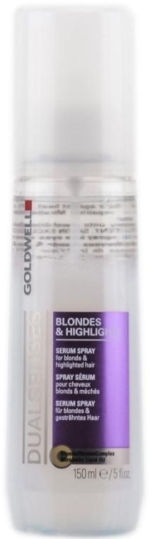 Спрей-сыворотка для осветленных и мелированных волос - Goldwell Dualsenses Blondes & Highlights Serum Spray