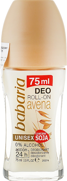 Роликовый дезодорант с экстрактом овса - Babaria Oat Extract Avena Roll On Deodorant