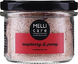 Духи, Парфюмерия, косметика Натуральная отшелушивающая соль для ванны - Melli Care Raspberry & Peony Scrubbing Bath Salt