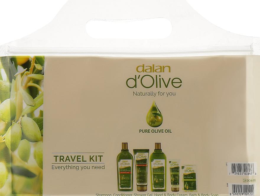 Набор - Dalan D'Olive (shm/50ml+cond/25ml+sh/gel/50ml+soap/25ml+crm/20ml)